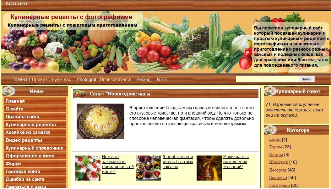 Лучшие сайты кулинарных рецептов с фото